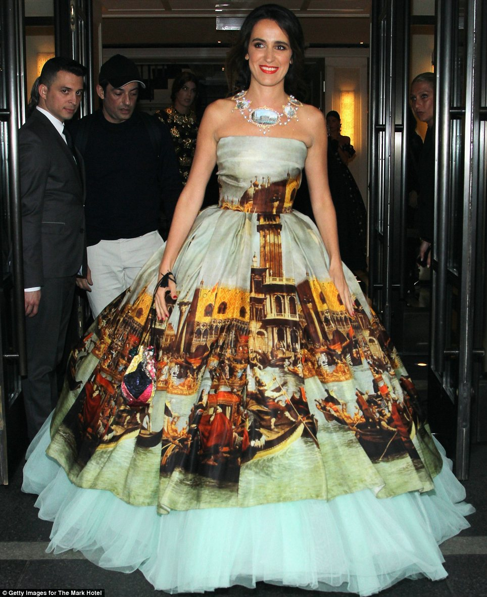 Ciao bella: Coco Brandolini's show-stopping gown had a painting of Venice, Italy, depicted on it