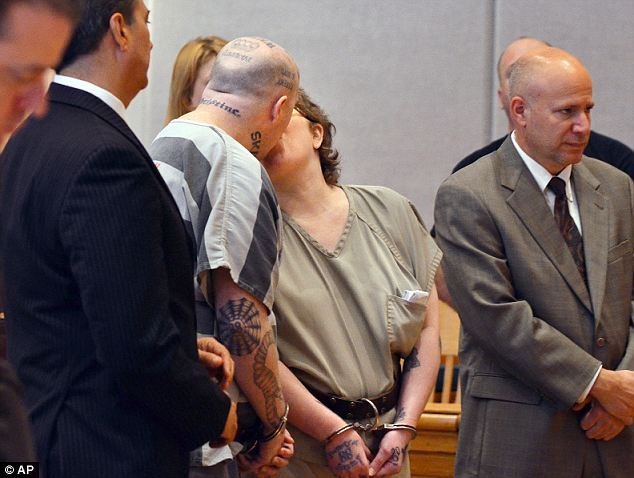 Appalling: The couple said later after the sentencing that they had a second sex offender target in mind and added that the female victim was 'a casualty of war' since they really wanted to kill her sex offender husband