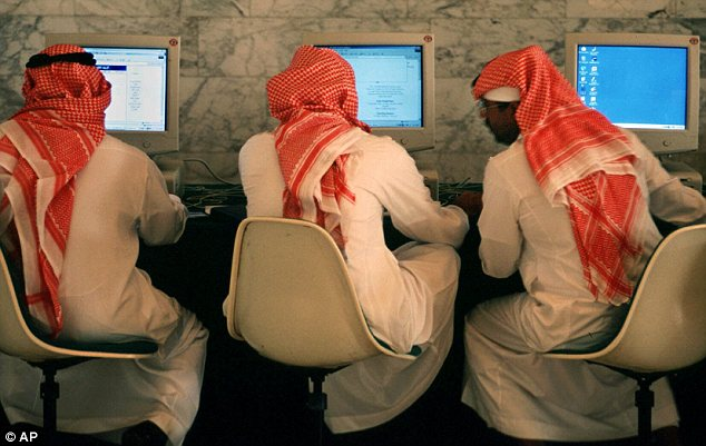 Banned: Saudi men were banned from using camera phones for a time over fears that men would use them to secretly photograph women and publish them on the Internet without the consent of the subjects