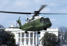 Marine One-to-be: An artist's rendering shows what Sikorsky's proposed 'VXX' presidential helicopter might look like