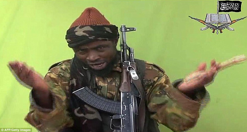 The flamboyant leader of the terror group addresses the camera, offering Nigerian authorities a deal