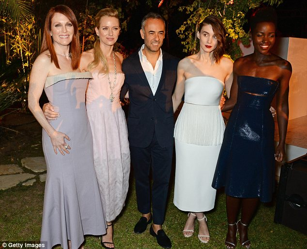 Party time: Francisco Costa, Women's Creative Director of Calvin Klein Collection, partied with the honourees at the bash