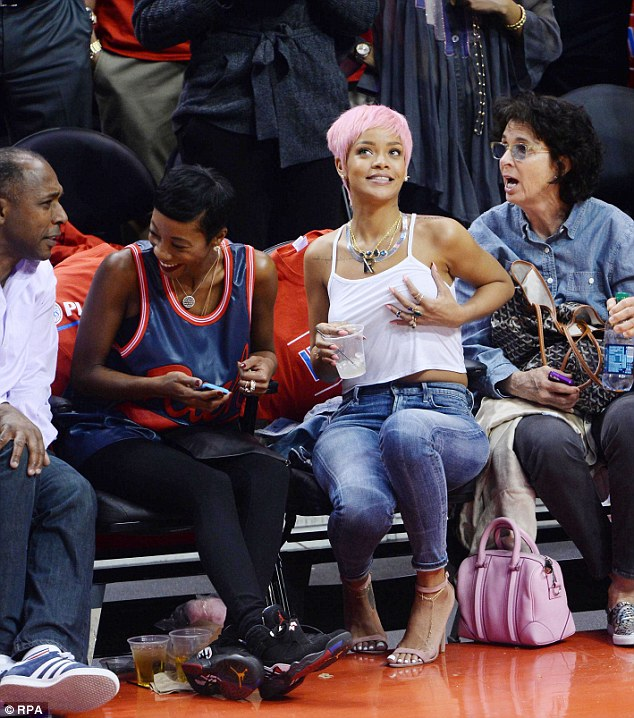 Provocative: Rihanna was spotted courtside watching the LA Clippers take on the Oklahoma City Thunder