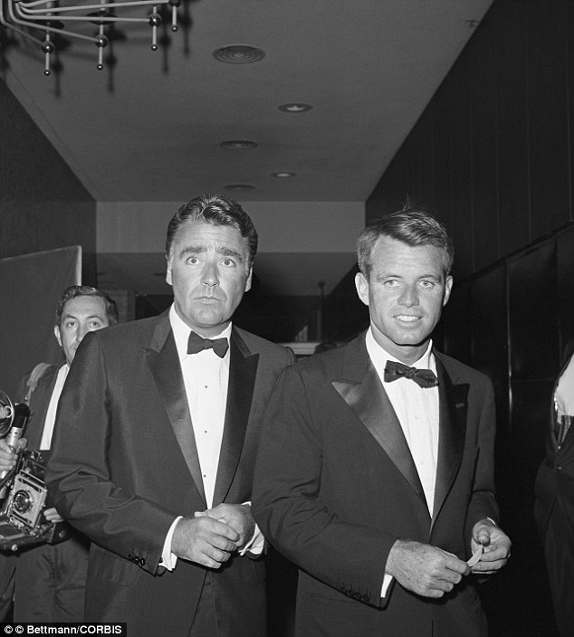 Co-conspirators: The Kennedy helicopter always landed down on the beach in front of brother-in-law Peter Lawford's Santa Monica-Gold Coast home. When Bobby's love affair with Marilyn went sour, he enlisted Lawford to help get rid of her, the authors shockingly claim