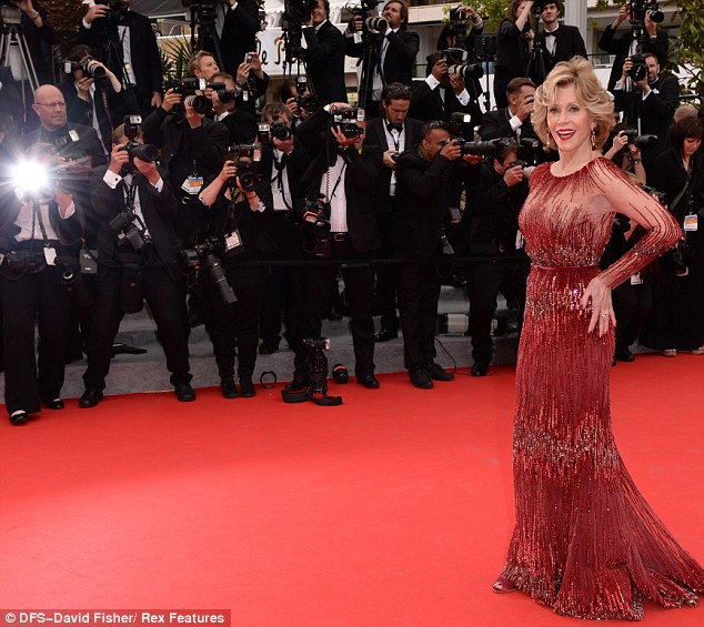 Sensational at 76: Jane Fonda dazzled at the Cannes Film Festival on Wednesday night for the Grace Of Monaco premiere