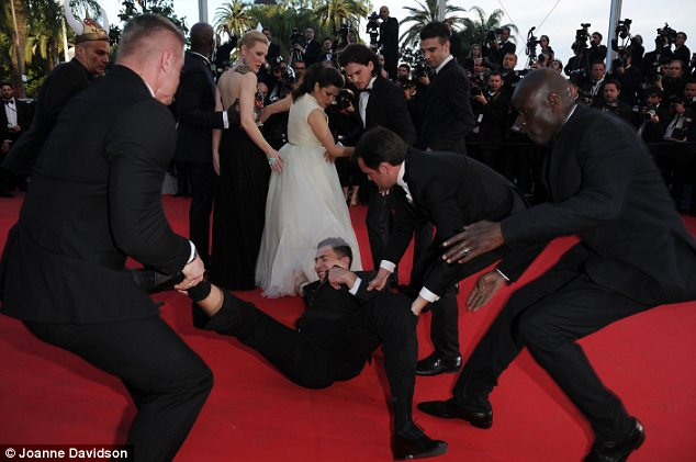 Not his first stunt: The notorious troublemaker has made a name for himself with his red carpet stunts