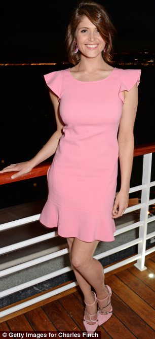 Flirty fun: Gemma Arterton glowed in a fun, flirty pink dress at the Charles Finch dinner at the Cannes Film Festival on Friday
