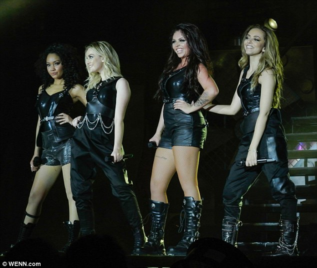 All grown up: In a show that saw the ladies in several different stage outfits, Jesy Nelson, Perrie Edwards, Jade Thirlwall and Leigh-Anne Pinnock took to the stage in skin-tight leather ensembles as they belted out their hits to the crowd