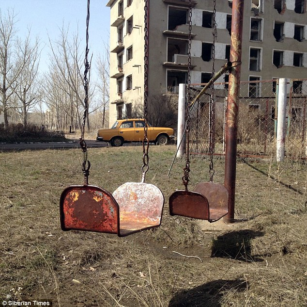 Once 6,500 people lived in Krasnogorsk. Now it is only home to 130 who struggle for resources