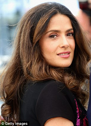 Mother-of-one: Salma seems to defy age and looks just as good now as when she first started out in Hollywood