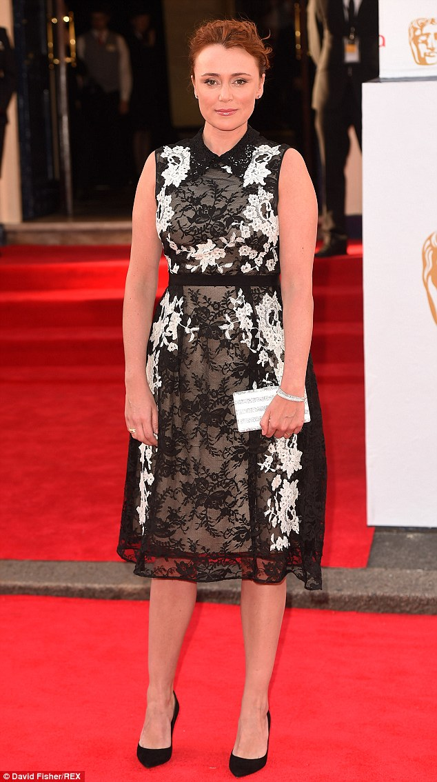 Borderline: Keeley Hawes looked well, but the dress failed to show her in her best light