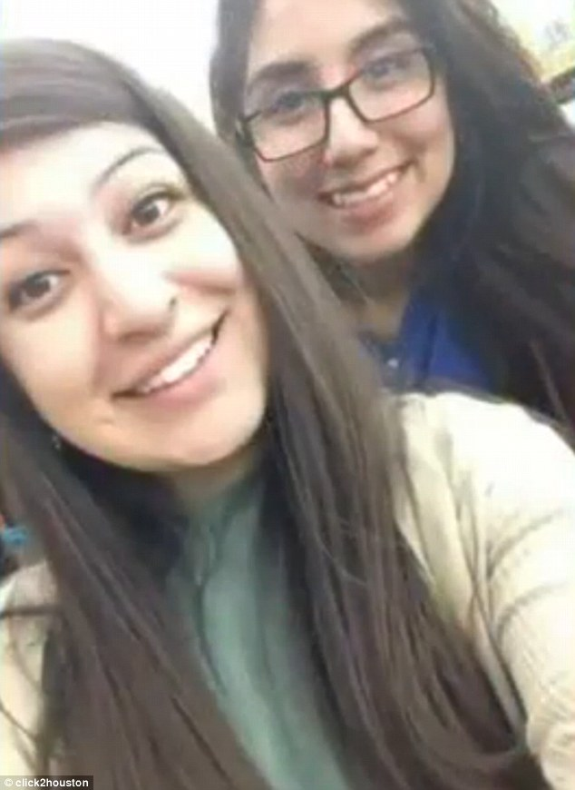 Tributes: Briana Hernandez, left, worked with Jacqueline, right, and said she was always smiling