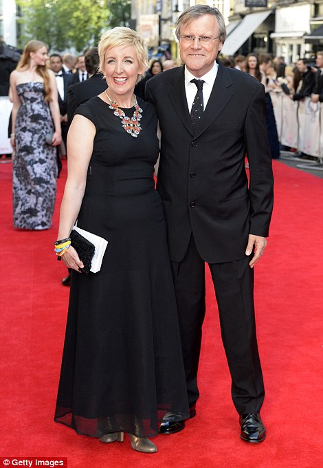 Coordinated couples: James Corden and his wife Julia Carey were stylishly in sync as were former Coronation Street co-stars Julie Hesmondhalgh and David Neilson