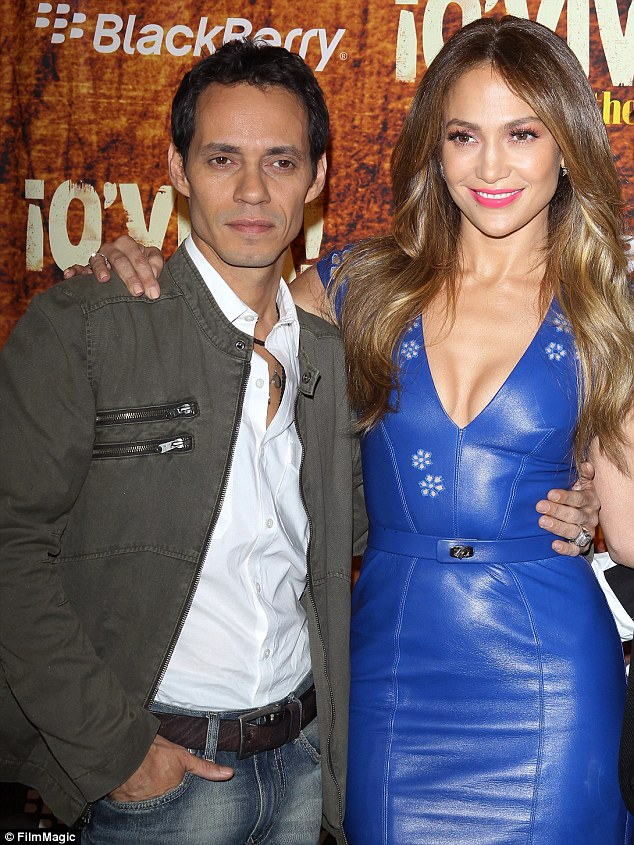 'Devastating': JLo admitted in the past that her split from Marc was 'painful', pictured shortly after announcing their separation in 2012 in Pasadena