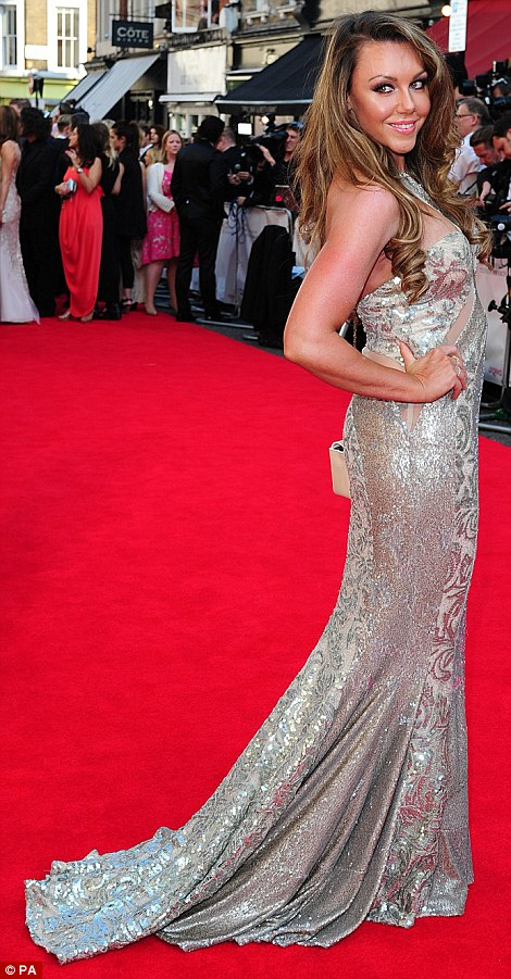 All that glitters: Liberty X singer Michelle Heaton shows off her amazing post-baby body in a shimmering Pia Michi dress