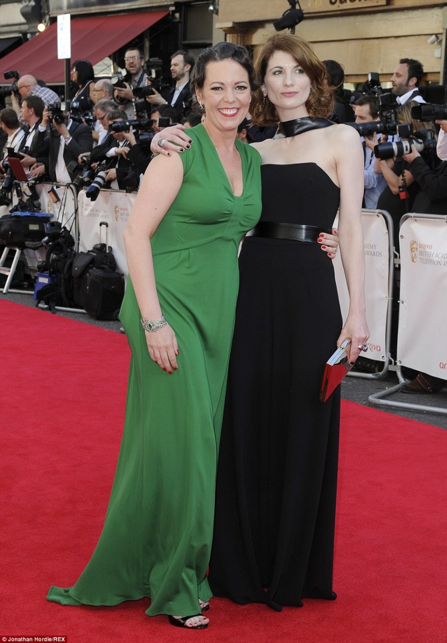 Broadchurch: Co-stars Olivia Colman and Jodie Whittaker catch up on the red carpet
