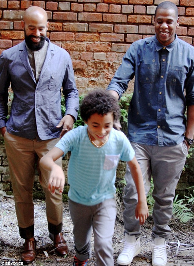 Jay-Z and Solange's boyfriend Alan Ferguson posed with Solange's nine-year-old son Daniel in another Tumblr snap