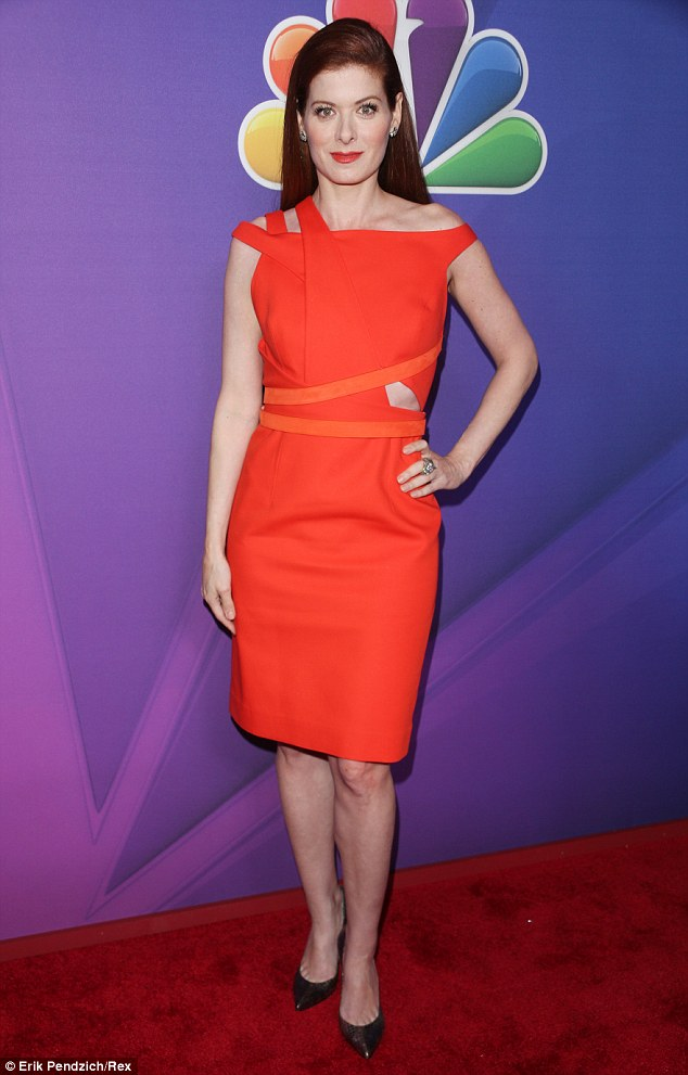 New series: Before heading off on her vacation the actress attended NBC's upfront event where she celebrated the announcement of her new comedy-drama, The Mysteries of Laura