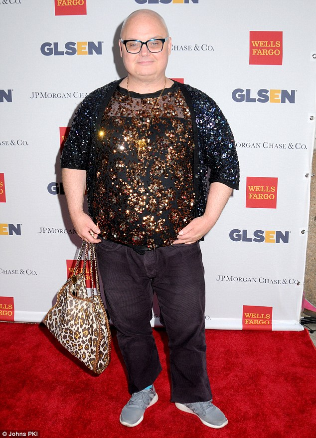 One-of-a-kind! Paper Magazine editorial director Mickey Boardman was impossible to miss in his sequinned and leopard-print get-up