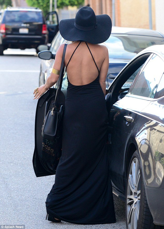 On her way! Afterward, the 25-year-old actress  was pictured heading back to her vehicle in four-inch stiletto heels, with her hair in long plaits