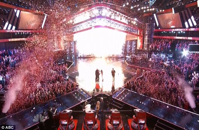 Spectacular: The high production values were obvious as confetti rained onto the stage amid pyrotechnics