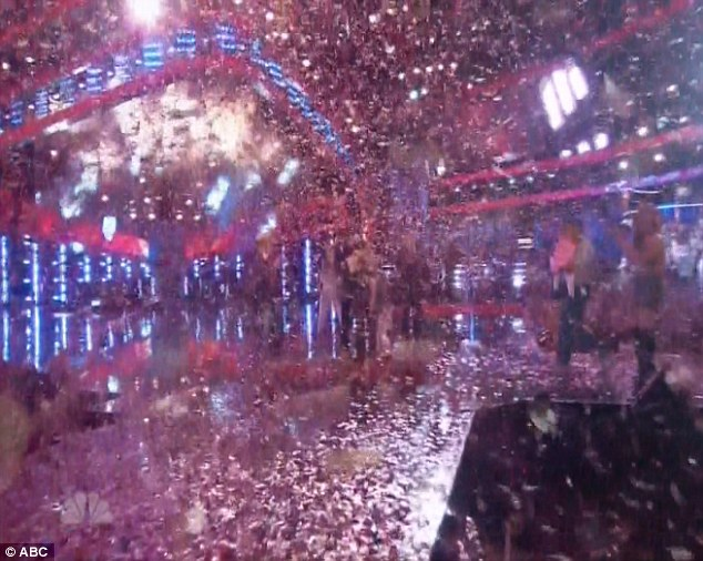 Confetti collage: The viewers at home got a taste of the excitement thanks to the stateside cameras