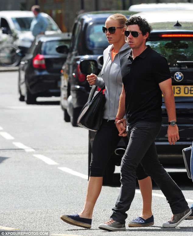 Both had serious faces after their lunch date, when they were spotted walking hand-in-hand in Sloane Square