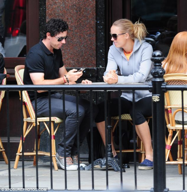 The pair were spotted sitting outside a restaurant in Sloane Square, London, last Thursday