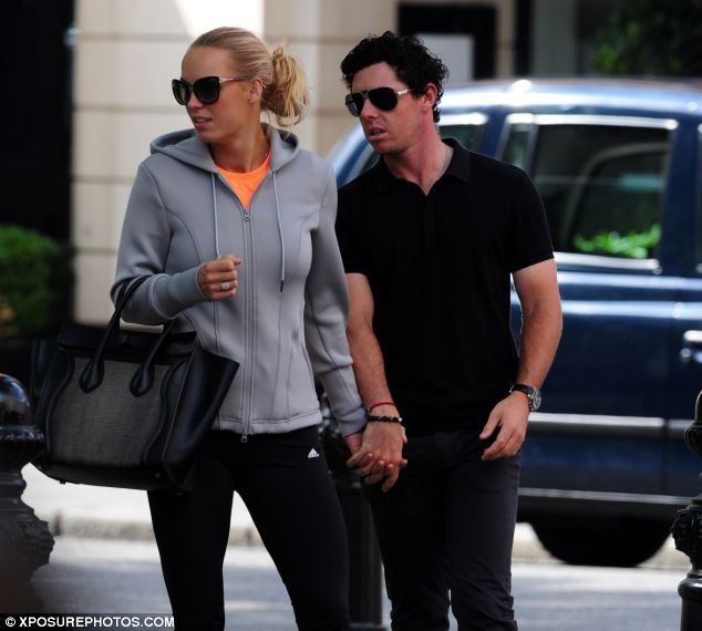 McIlroy, 25, who is worth an estimated £28million, proposed to the 23-year-old tennis star in Sydney, Australia, on New Year's Day