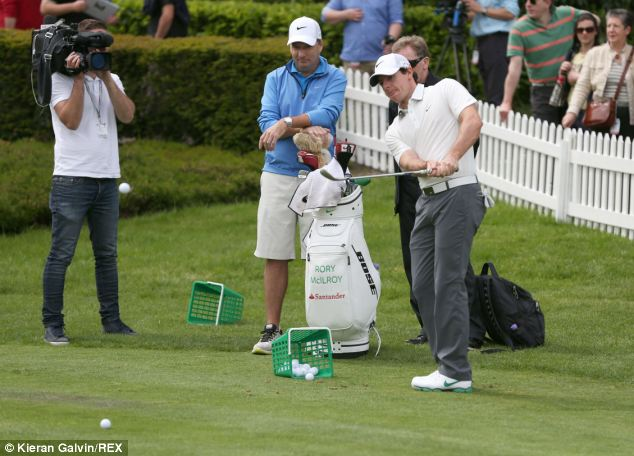 After announcing the split, McIlroy took to the golf course in Wentworth, Surrey, for the BMW PGA Pro-Am Championship