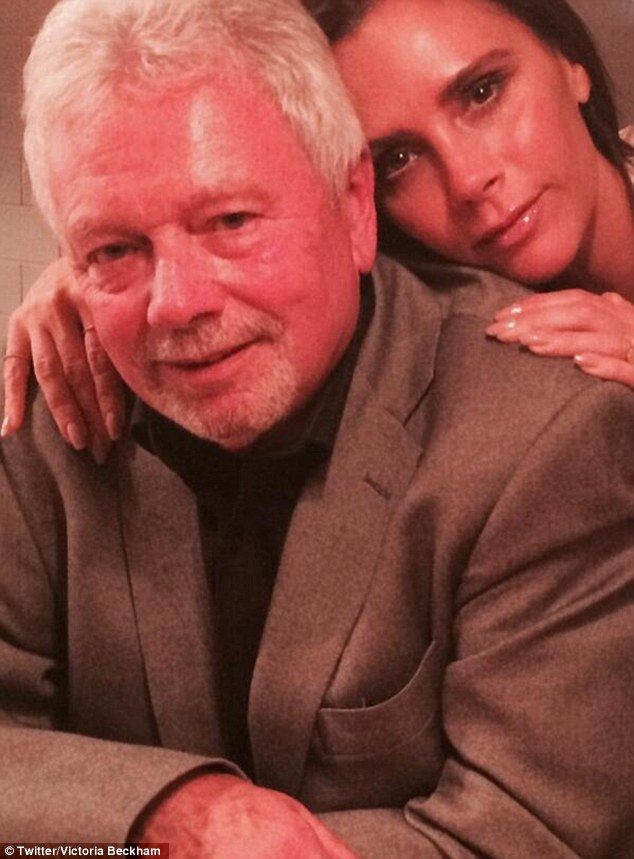 Poser: The Wannabe crooner shared a photo of herself and her father Anthony on the same day, writing: 'It's my dad's birthday! Happy Birthday! We all love u so much'