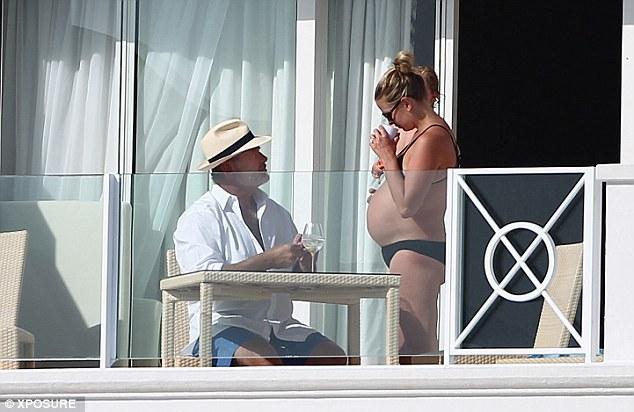 Daddy: Katye was seen talking to Kelsey on the balcony