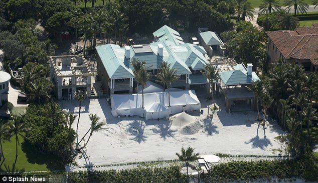 New life: Elin bought and renovated this Florida mansion with her divorce settlement and fell in love with her neighbour