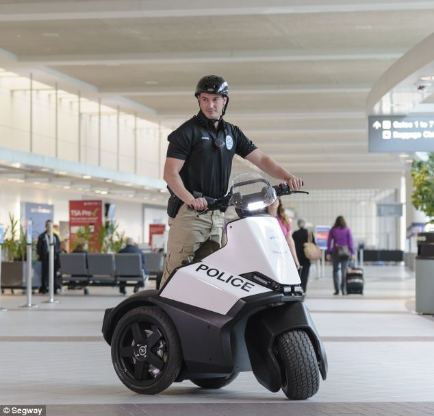 Airport security is expected to be one of the major uses for the new $12,000 Segway SE-3