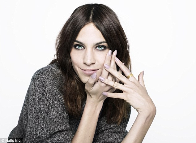 New face: Alexa Chung has been unveiled as the face - and hands - of Nails Inc. The model replaces good friend Poppy Delevingne as the face of the beauty brand
