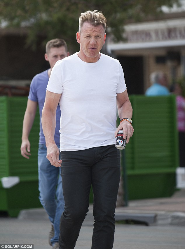 Gordon Ramsay Shows New Slicked Back Hair During Night Out