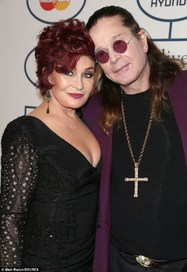 Happy couple: Sharon Osbourne has recently opened up about helping her husband Ozzy through rehab