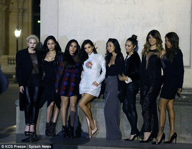 The crew: The photo ops were plentiful with the gorgeous backdrop of Paris at night