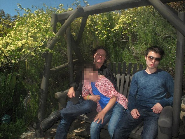 Family: Elliot Rodger (right) with his father (left) and a younger sibling, posted many videos to his YouTube account reminiscing about his happy childhood