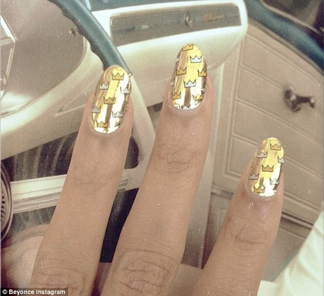 Queen Bey: Later that day the singer shared a photo of her impressive manicure on Instagram while in the car