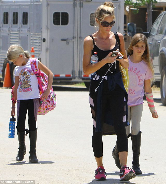 Homeless: Charlie Sheen has reportedly kicked former wife Denise Richards and their kids Sam and Lola, along with her daughter Eloise, out of their home which he owns