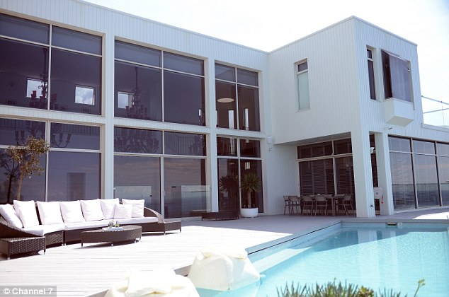 Perfect in the summer: The Easter Suburbs home was also once the crash pad for contestants on Australia's Next Top Model