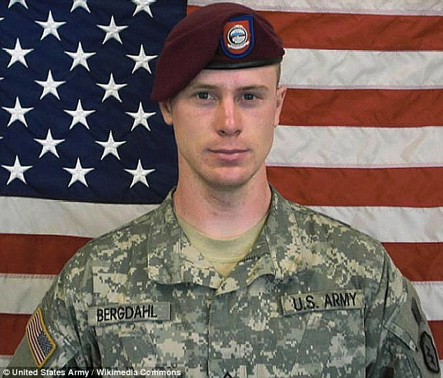 Free man: Sgt Bowe Bergdahl, held by the Taliban in Afghanistan for nearly five years, has been released into U.S. custody