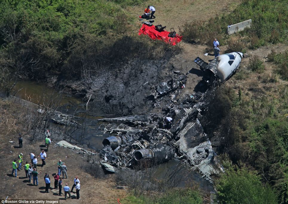 Wreckage Of Private Jet That Killed Lewis Katz And 6