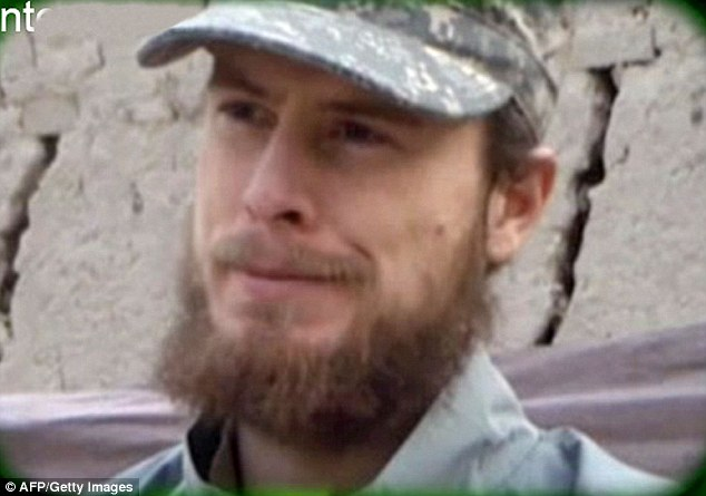 Premeditated: Soldiers claim Bergdahl (pictured in proof of life video) planned his desertion. He sent belongings home, learned the language, did not breach the perimeter fence on the day he disappeared and would spend his time learning the local languages. He even told them he wanted to walk to China