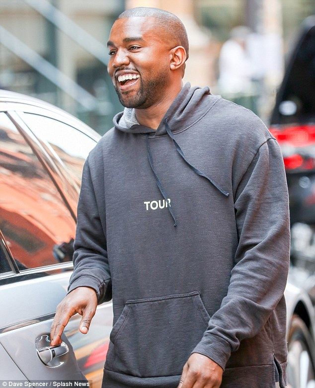 But no Kanye! Meanwhile Kim's husband was seen out shopping for clothes in New York City as he smiled brightly to fans waiting to see him
