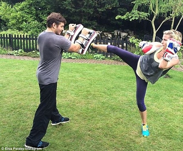 Take that! Muay Thai boxing, pilates, yoga and strength training are all part of the Fast and Furious stars weekly routine, she Instagrammed this shot