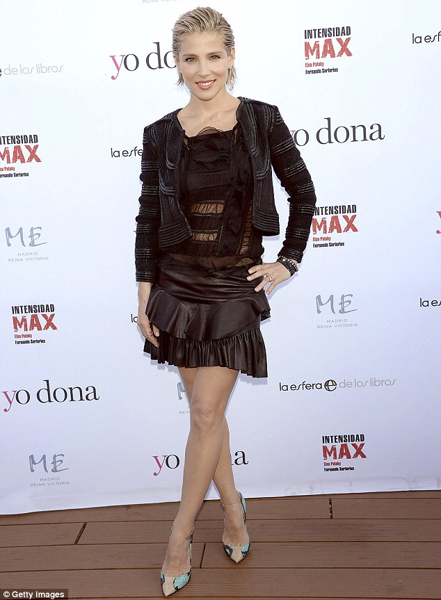 Taking it to the max: Spanish actress turned author Elsa Pataky launched her new fitness book Intensidad Max at ME Hotel in Madrid on Wednesday and unveiled her rock hard abs
