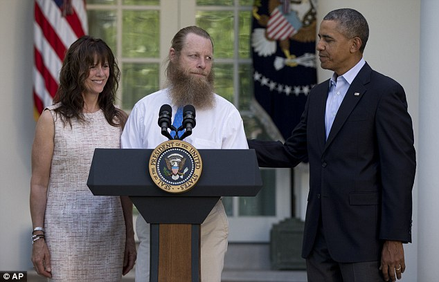 This image of Obama alongside Bob Bergdahl, father of the newly-liberated Taliban hostage and one of the most obvious fruitcakes ever to sport an Old Testament prophet's beard, could come back to haunt him