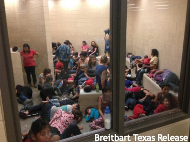 Photos leaked to U.S. and Mexican media outlets on Thursday show unaccompanied children crammed into Border Patrol holding cells elsewhere, sleeping on concrete floors